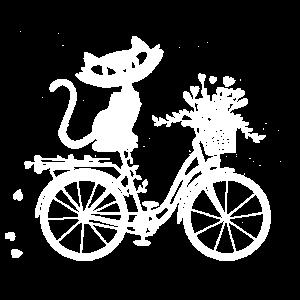 Katze auf Nostalgie Fahrrad Geschenkidee