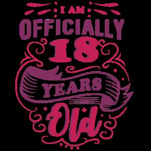 offiziell 18 - 18. Geburtstag