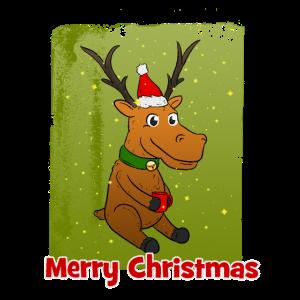 Frohe Weihnachten Süßes Rentier Weihnachtsgeschenk