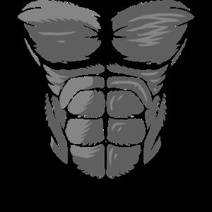 Haarige Gorilla Chest Kong Geschenk Design Idee drucken