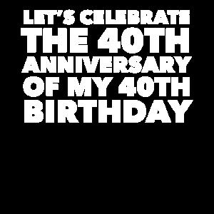 Lustiger 40. Geburtstag