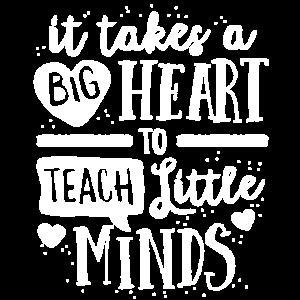 Großes Herz unterrichten kleinen Sinnes-T-Shirt Lehrer