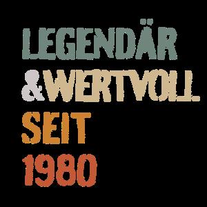 40. Geburtstag Legendär und Wertvoll seit 1980