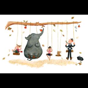 Schaukeln mit Elefant