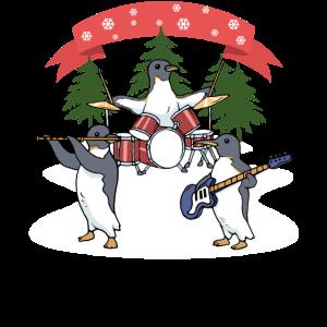 Weihnachten Pinguin Weihnachtspinguin Band Musik