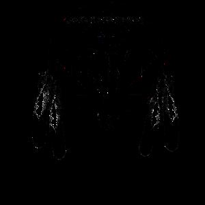 bull skull schwarz