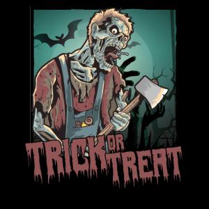 Halloween Trick or Treat Zombie Axt Horror