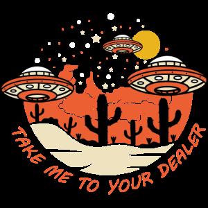 Außerirdischer Ufo Lustig Weltraum Geschenk