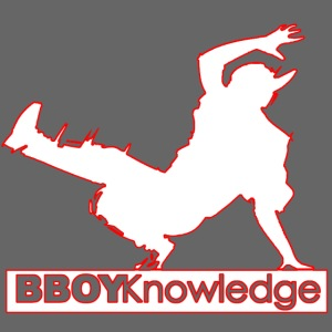 Bboy Knowledge Logo Variation Red&White