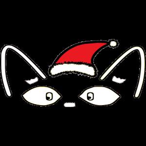 Katze mit Weihnachtsmütze / Weihnachten /Christmas