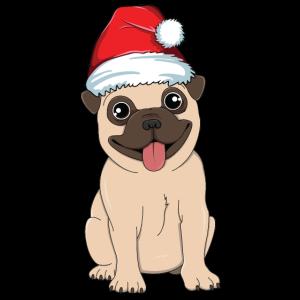 Santa Mops Weihnachten Hund Liebhaber Geschenk für Frauen Kinder
