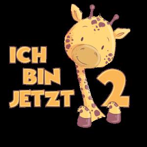 Kinder 2. Geburtstag 2 Jahre Junge Mädchen Giraffe