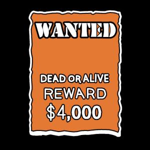 Gesucht Tot oder Lebendig Steckbrief