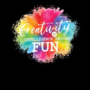 Kreativität ist Intelligenz, die Spaß macht.