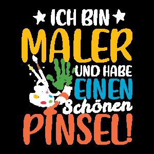 Maler Pinsel Künstler Kunstmaler Spruch Geschenk