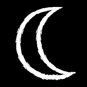 Keltisches Symbol Mond weiß