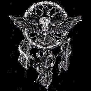 AD Skull Crow Dreamcatcher