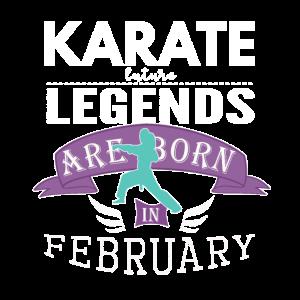 Karate-Legenden werden im Februar Mädchen geboren