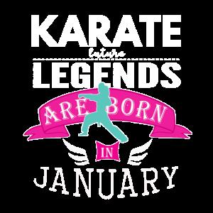Karate-Legenden werden im Januar Mädchen geboren