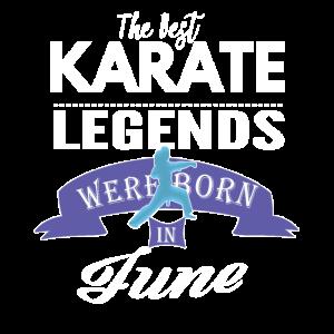 Karate-Legenden werden im Juni Mädchen geboren