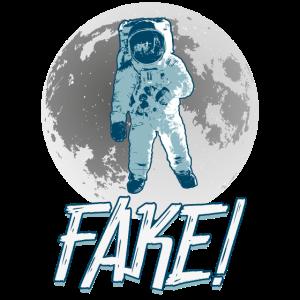 Fake Mondlandung Astronauten Weltall Geschenk Cool