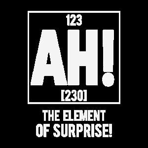 Element der Überraschung Geschenk Lustig Chemie