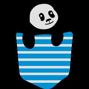 Panda Stripe Pocket