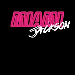 MIAMI Jackson Vintage Retro Neon