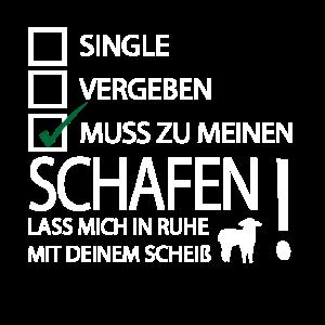 Schafe lustiger Spruch Bauer Landwirt Schaf Design