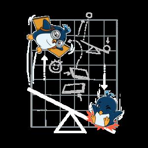 Pinguin Flieger Wissenschaft Physik Wippe