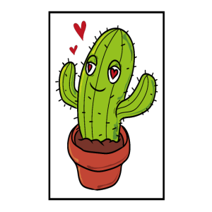 Kaktus verliebt