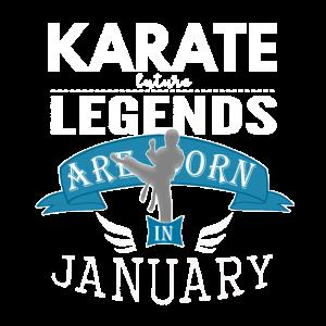 Karate-Legenden werden im Januar geboren