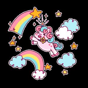Einhorn Unicorn Regenbogen Sternschnuppe Geschenk