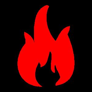 ROTES Feuer mit Flammen