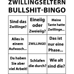 Zwillingseltern Bullshit-Bingo