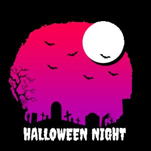 Halloween Nacht Friedhof