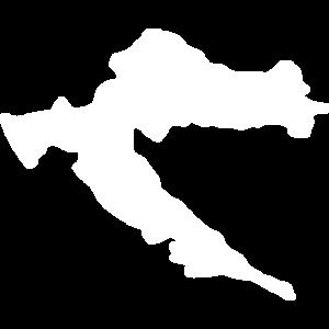 Kroatien Fahne Croatia Umriss Hrvatska Flag Hrvati