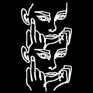 Abstract Grafitti Print Art Hipster Gesicht Frau