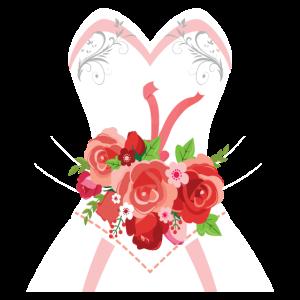 Einfacher Hochzeits-Kleiderentwurf für Brautpartys