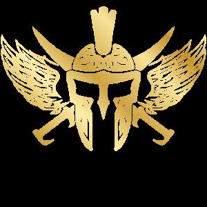 spartan helm sparta gold