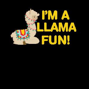 Ich bin ein Lama (viel) Spaß - lustiges Lama-Wortspiel
