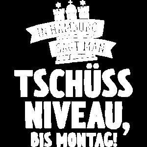 IN HAMBURG SAGT MAN TSCHÜSS NIVEAU BIS MONTAG