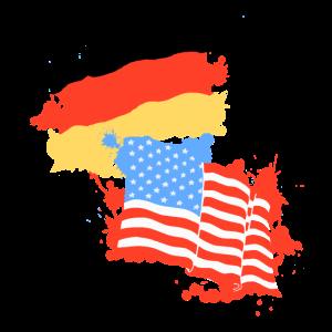 Deutschland Amerika Flagge Deutsch Amerikanisch