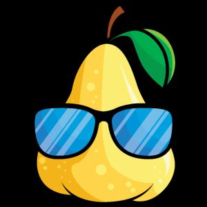 Gelbe Birne in cool mit fetter Sonnenbrille