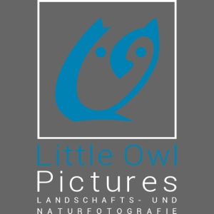 Little Owl Pictures Logo (weiß/blau)