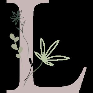 Buchstabe L mit Blumen