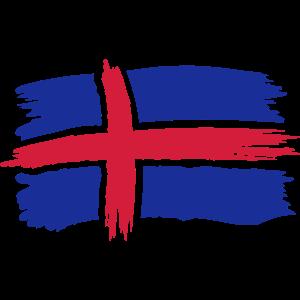 Island Iceland Flagge