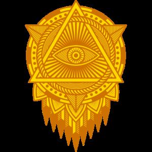 ALLSEHENDES AUGE Meditation Yoga Heilige Geometrie