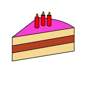 Geburtstagskuchen mit Kerzen Geschenk