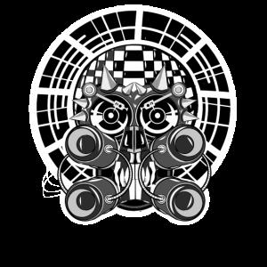 Tekno Verschwörung Ravewear Kopf